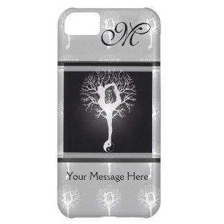 Árvore da ioga em preto e branco capa para iPhone 5C