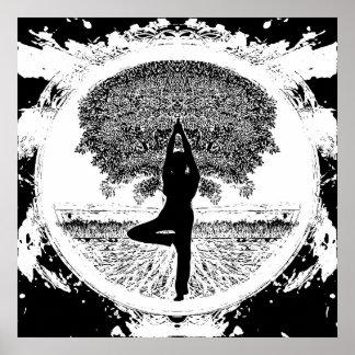 Árvore da ioga pôster