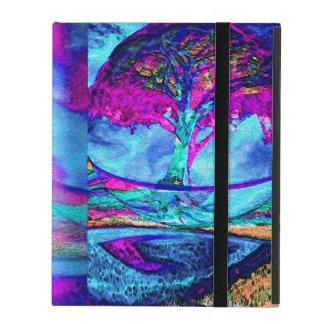 Árvore da meditação de vida no roxo capa iPad
