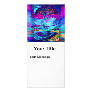 Árvore da meditação de vida no roxo 10.16 x 22.86cm panfleto