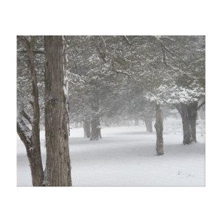 Árvore da neve impressão em tela