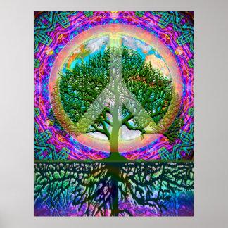 Árvore da paz da vida pôster