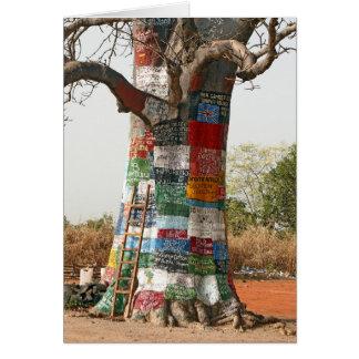 Árvore da propaganda cartão comemorativo
