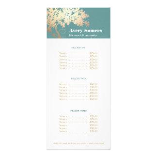 Árvore da saúde da vida e do menu da tabela de 10.16 x 22.86cm panfleto