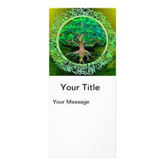 Árvore da saúde e da prosperidade da vida 10.16 x 22.86cm panfleto