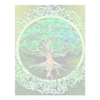 Árvore da saúde e da prosperidade da vida modelo de panfleto