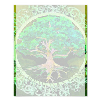 Árvore da saúde e da prosperidade da vida modelos de panfleto