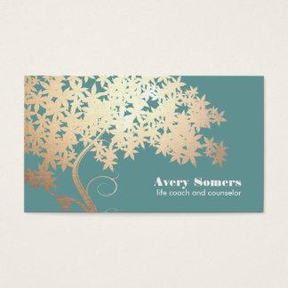 Árvore da saúde e do bem-estar do logotipo da vida cartão de visitas