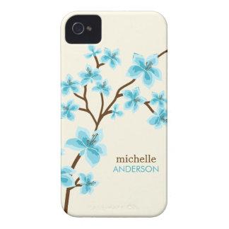 Árvore das flores de cerejeira do Aqua Capa Para iPhone