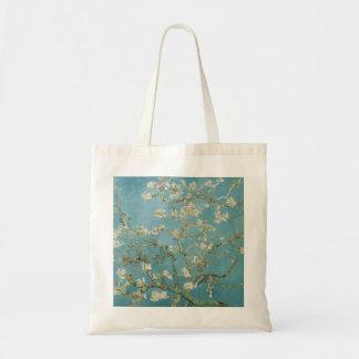 Árvore de amêndoa na flor por Vincent van Gogh Sacola Tote Budget