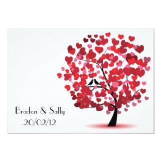 árvore de amor convite 12.7 x 17.78cm