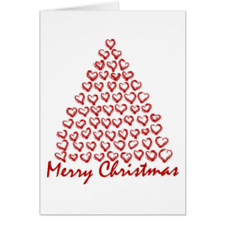 Árvore de amor do Natal Cartão Comemorativo