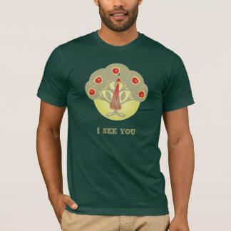 Árvore de Apple ou camisa da cara ou do pavão
