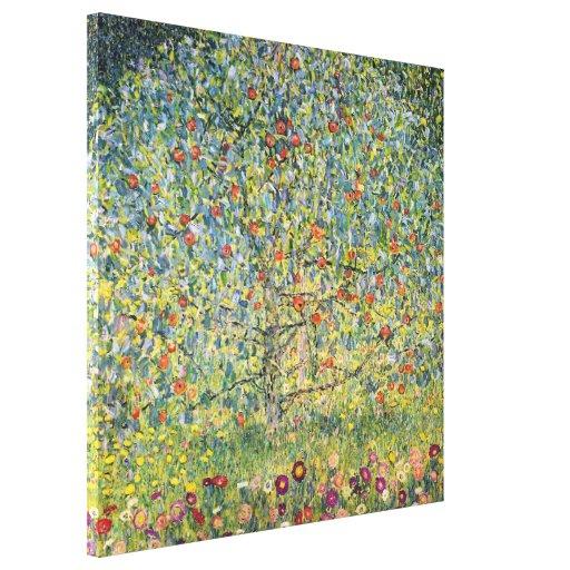 Árvore de Apple por Gustavo Klimt, arte Nouveau do Impressão De Canvas Esticada