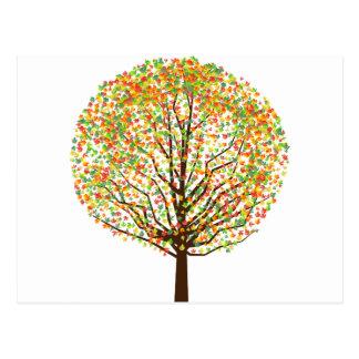 Árvore de bordo cartões postais