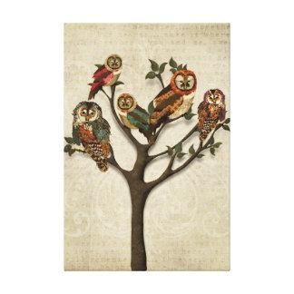 Árvore de canvas das corujas impressão em tela