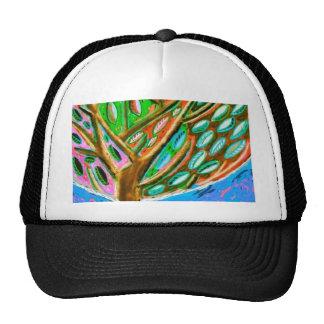 Árvore de céu azul do chapéu da vida boné