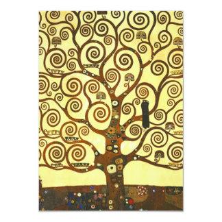 Árvore de Gustavo Klimt de convites da vida