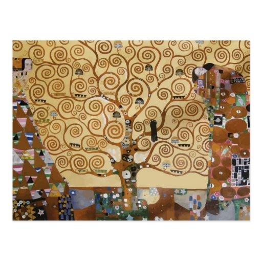 Árvore de Gustavo Klimt de vida Cartoes Postais