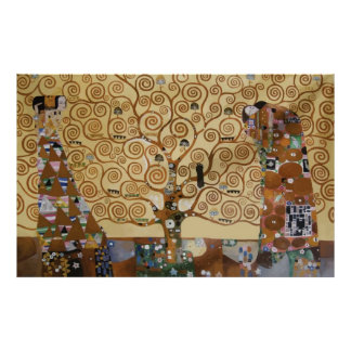 Árvore de Gustavo Klimt de vida Poster