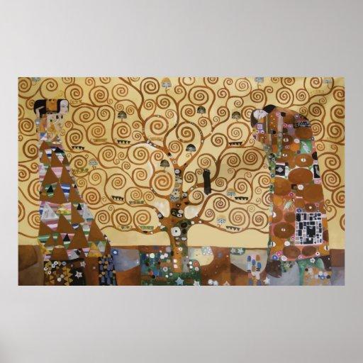 Árvore de Gustavo Klimt de vida Posteres