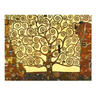 Árvore de Gustavo Klimt do cartão da vida Cartões Postais