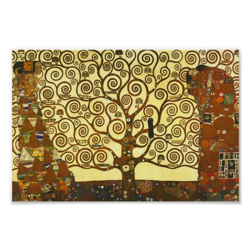 Árvore de Gustavo Klimt do poster da vida
