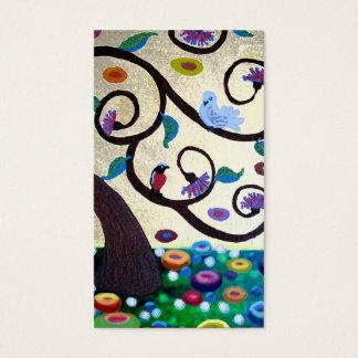 Árvore de Klimt Cartão De Visitas