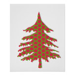 árvore de Natal 3d Panfleto Coloridos