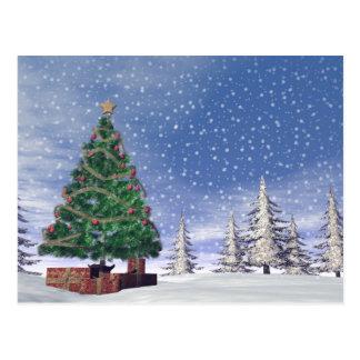 Árvore de Natal - 3D rendem Cartão Postal