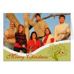 Árvore de Natal bonito do limão de pássaros da fot Cartoes