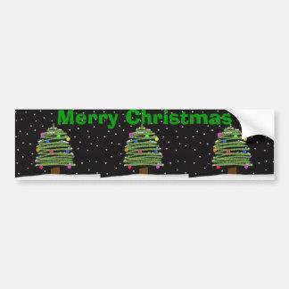 Árvore de Natal Bumpersticker Adesivo Para Carro
