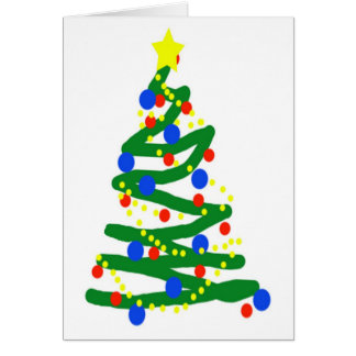 Árvore de Natal Cartão Comemorativo