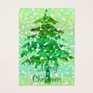 Árvore de Natal - cartão de Tag do presente