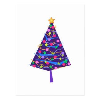 árvore de Natal Cartão Postal