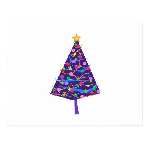 árvore de Natal Cartao Postal