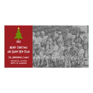 Árvore de Natal com a uma grande foto Cartao Com Foto