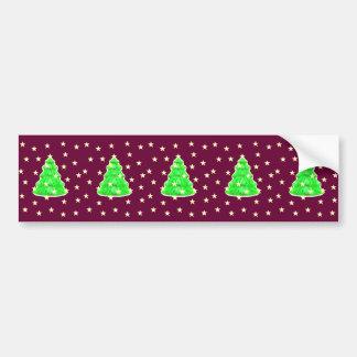 Árvore de Natal com estrelas o MUSEUMZazzle Adesivo Para Carro