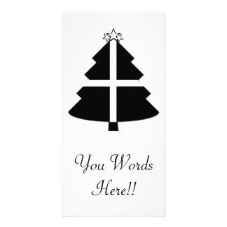 Árvore de Natal Cornish da bandeira Cartão Com Foto