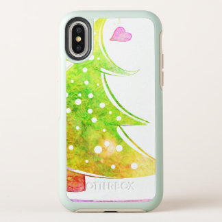 Árvore de Natal da aguarela