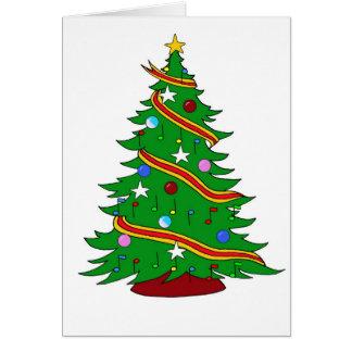 Árvore de Natal da nota musical Cartao