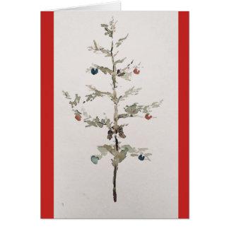 Árvore de Natal de O! Cartão do feriado (vazio