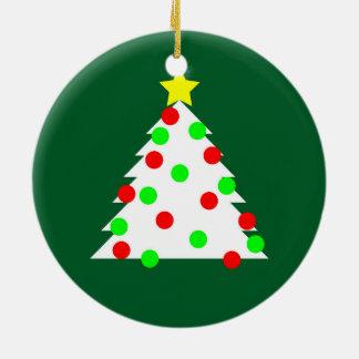 Árvore de Natal de papel do entalhe Ornamento De Cerâmica Redondo