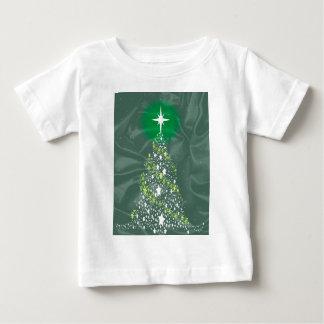 Árvore de Natal de seda Camiseta Para Bebê