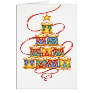 Árvore de Natal do cartão do Natal dos cilindros