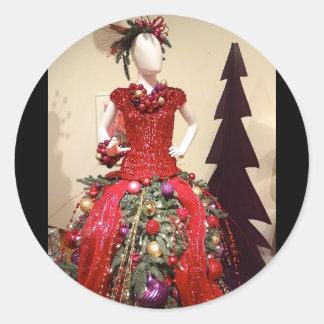 Árvore de Natal do manequim do formulário do Adesivo