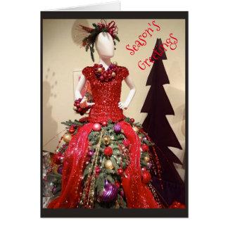 Árvore de Natal do manequim do formulário do Cartão Comemorativo