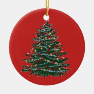 Árvore de Natal do ornamento do círculo