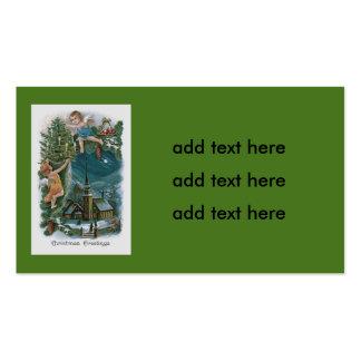 Árvore de Natal do querubim do anjo da igreja Cartão De Visita
