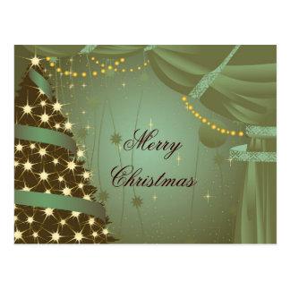 Árvore de Natal e cartão da cortina